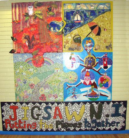 Four seasons art project jigsaw ni for 4 seasons mural
